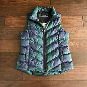 NWT! Land's End Black Watch Print Down Vest